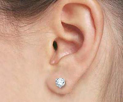 Lobe-Piercing