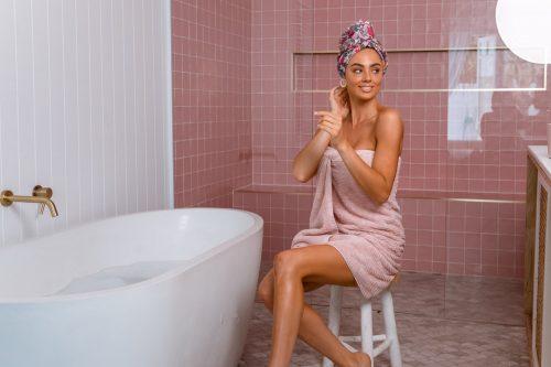 Louvelle Riva Hair Towel Wrap Halycon Garden