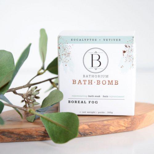 bathorium bath bomb boreal fog