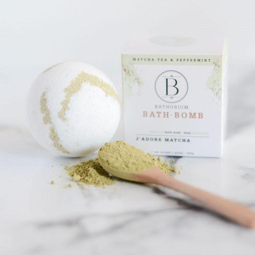 bathorium bath bomb j'adore matcha